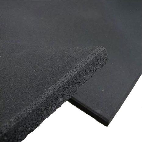 Rubber Gym Tile Flooring - Black